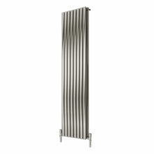 Reina Nerox Double Vertical Steel Radiator 1800 x 472 - Brushed - welovecouk