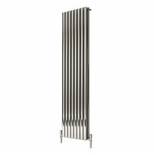 Reina Nerox Double Vertical Steel Radiator 1800 x 472 - Polished - welovecouk