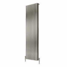 Reina Nerox Double Vertical Steel Radiator 1800 x 531 - Brushed - welovecouk