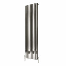 Reina Nerox Double Vertical Steel Radiator 1800 x 531 - Polished - welovecouk