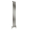 Reina Nerox Single Vertical Steel Radiator 1800 x 295 - Brushed - welovecouk