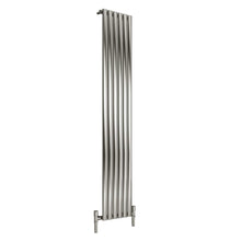 Reina Nerox Single Vertical Steel Radiator 1800 x 354 - Brushed - welovecouk