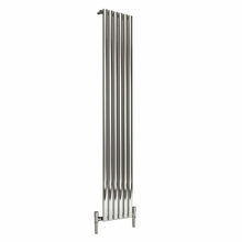 Reina Nerox Single Vertical Steel Radiator 1800 x 354 - Polished - welovecouk