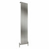 Reina Nerox Single Vertical Steel Radiator 1800 x 413 - Brushed - welovecouk