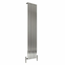 Reina Nerox Single Vertical Steel Radiator 1800 x 413 - Polished - welovecouk