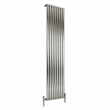 Reina Nerox Single Vertical Steel Radiator 1800 x 472 - Brushed - welovecouk