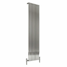 Reina Nerox Single Vertical Steel Radiator 1800 x 472 - Polished - welovecouk