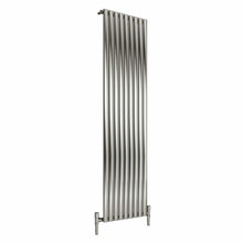 Reina Nerox Single Vertical Steel Radiator 1800 x 531 - Brushed - welovecouk