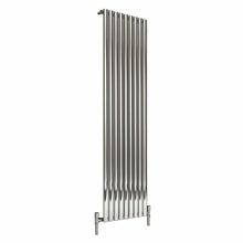 Reina Nerox Single Vertical Steel Radiator 1800 x 531 - Polished - welovecouk
