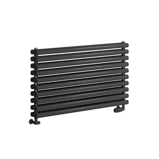 Reina Nevah Single Horizontal Steel Radiator 295 x 1000 - Anthracite - welovecouk