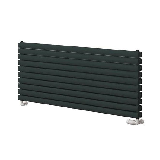 Reina Roda Double Horizontal Steel Radiator 590 x 1400 - Anthracite - welovecouk