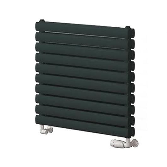 Reina Roda Double Horizontal Steel Radiator 590 x 600 - Anthracite - welovecouk
