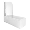 Riverside 1500 x 700mm Single Ended Acrylic Bath & Curved Double Bath Screen