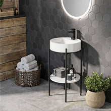 Eclipse Framed Round Cloakroom Basin - welovecouk
