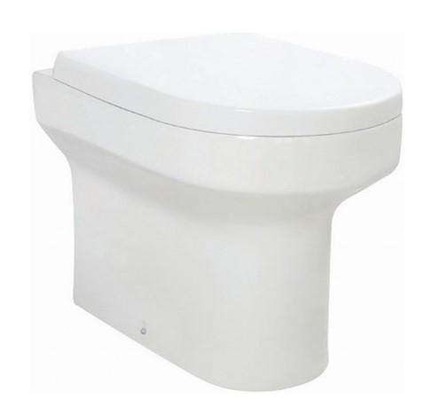 Spa Back to Wall Toilet & D-Shape Soft Close WC Seat - welovecouk