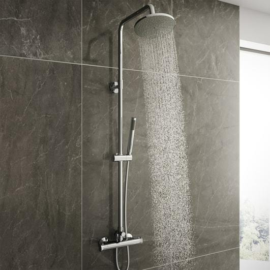 Alpha Complete Shower Bathroom Suite - welovecouk