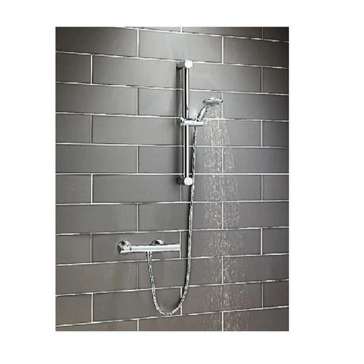 Round Thermostatic Shower & Slide Rail Kit