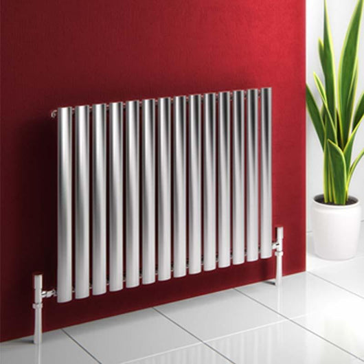 Reina Nerox Single Horizontal Steel Radiator 600 x 826 - Brushed - welovecouk