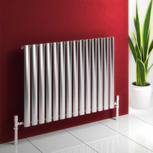 Reina Nerox Single Horizontal Steel Radiator 600 x 1180 - Brushed - welovecouk