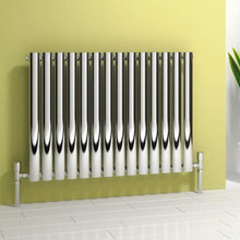 Reina Nerox Single Horizontal Steel Radiator 600 x 590 - Polished - welovecouk
