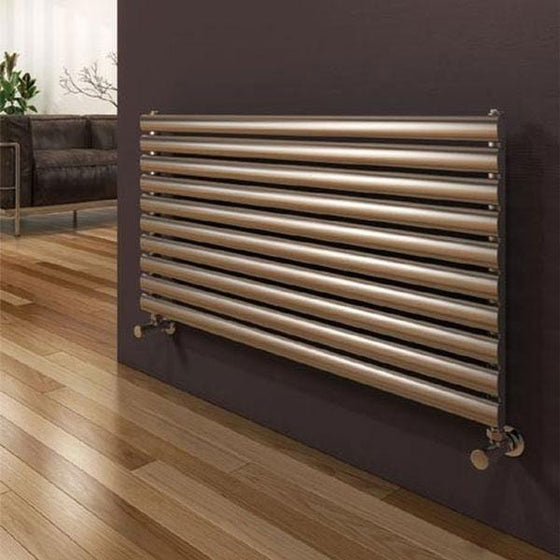 Reina Artena Single Steel Radiator 590 x 800 - Brushed - welovecouk
