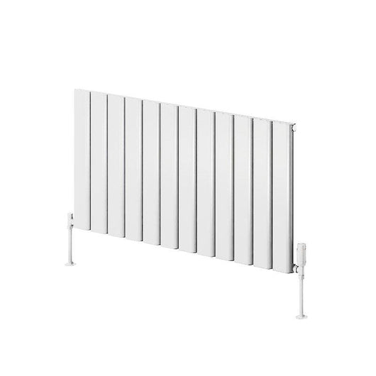 Reina Vicari Single Horizontal Aluminium Radiator 600 x 1200 - White - welovecouk