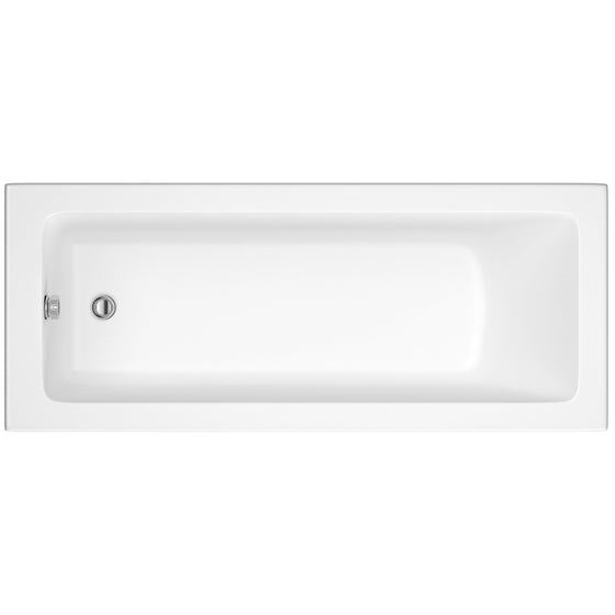 Sola 1800 x 800 Single Ended Bath & Square Bath Screen