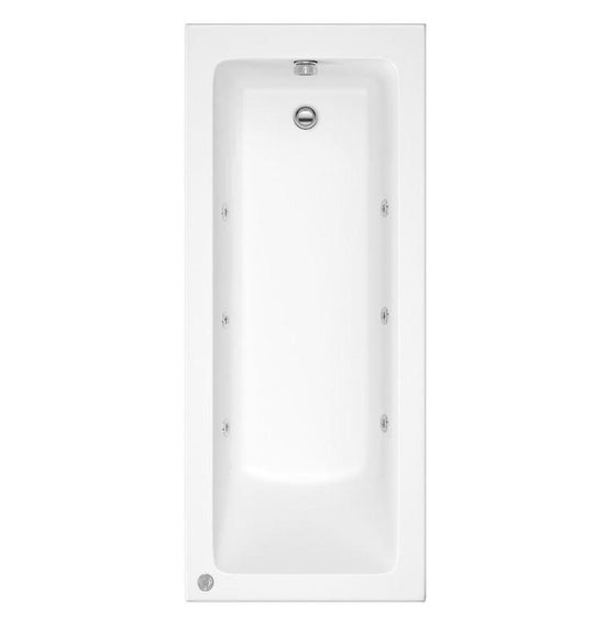 Sola 1700 x 700 Whirlpool & Hydrotherapy Spa Bath - Various Options