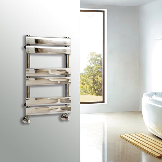 Riverton 650 x 400mm Chrome Designer Towel Rail