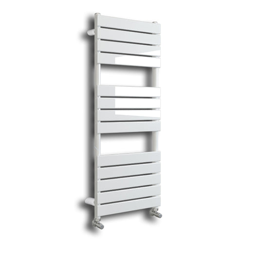 Riverton 1200 x 600mm Gloss White Designer Towel Rail