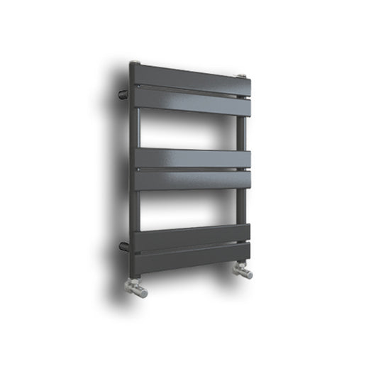 Riverton 650 x 400mm Matt Grey Designer Towel Rail