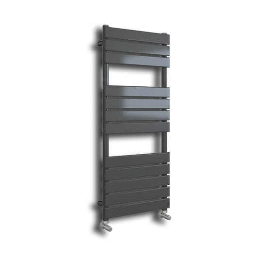Riverton 1200 x 450mm Matt Grey Designer Towel Rail