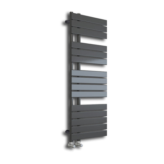 Hamilton 1380 x 500mm Grey Designer Towel Rail