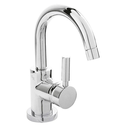 Hudson Reed Tec Side Action Cloakroom Mono Basin Mixer Tap With Push Button Waste Bathroom Tap