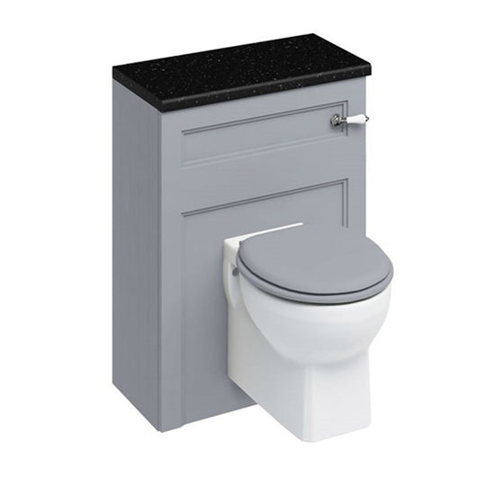 Burlington 600mm Wall Hung WC Unit with Lever Flush Cistern - Grey
