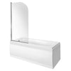 Wallgate 1800 x 700mm Single Ended Acrylic Bath & Curved Bath Screen
