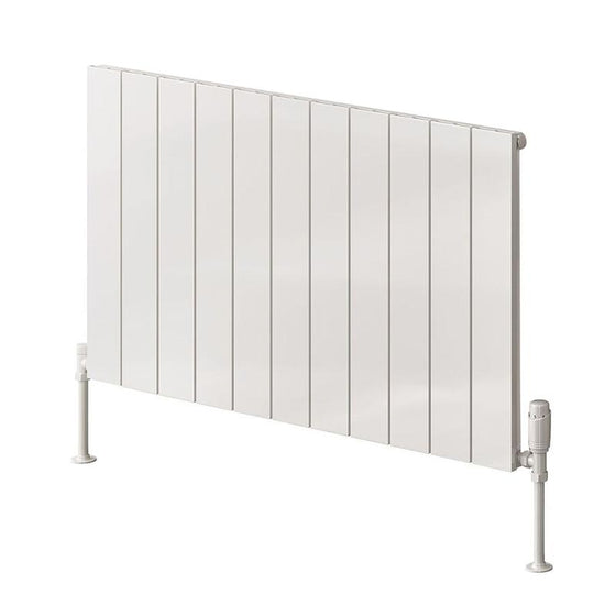 Reina Casina Single Horizontal Aluminium Radiator 600 x 1040 - White - welovecouk