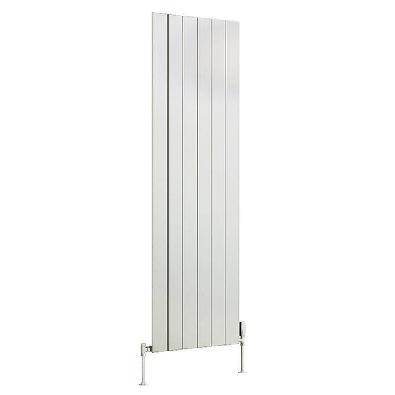 Reina Casina Single Vertical Aluminium Radiator 1800 x 565 - White - welovecouk
