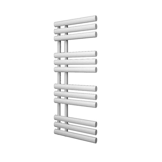 Reina Chisa Vertical Steel Heated Towel Rail 820 x 500 - White - welovecouk