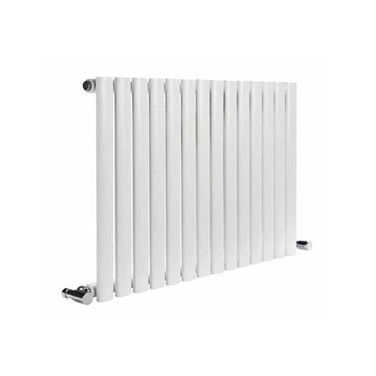 Reina Neva Horizontal Single Radiator 550 x 1416 - White - welovecouk