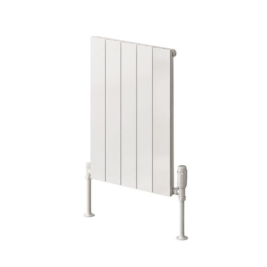 Reina Casina Single Horizontal Aluminium Radiator 600 x 470 - White - welovecouk