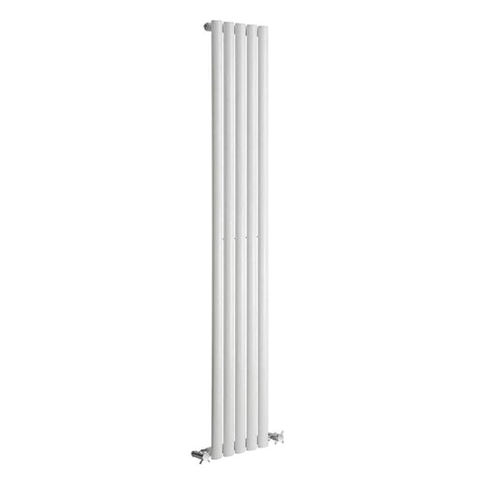 Reina Neva Vertical Single Radiator 1500 x 236 - White - welovecouk