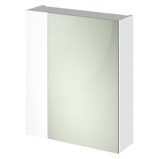 Nuie Fusion 600mm 2-Door Mirrored Cabinet - White