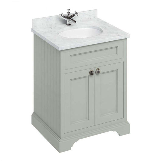 Burlington Floor Standing 650mm Vanity Unit with Minerva Worktop & Basin - Dark Olive