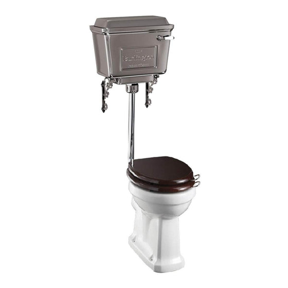 Burlington Low Level Toilet with Chrome Cistern & Soft Close Seat - 740mm Projection
