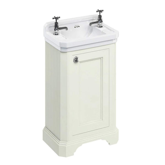 Burlington Edwardian 510mm Floor Standing Cloakroom Vanity Unit with Basin - Sand