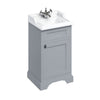 Burlington Classic 510mm Floor Standing Cloakroom Vanity Unit with Basin - Classic Grey