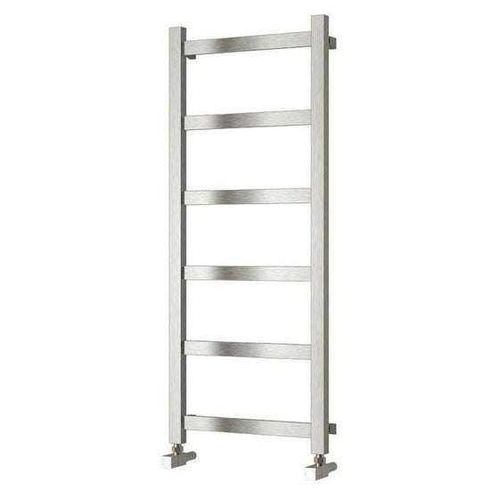 Reina Mina Steel Heated Towel Rail 1170 x 480 - Brushed - welovecouk