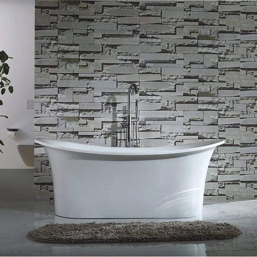 Latina White 1670 Double Ended Slipper Freestanding Bath Contemporary
