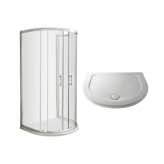 ShowerWorX Lela D-Shaped Shower Enclosure with D-Shaped Tray- 6mm Glass